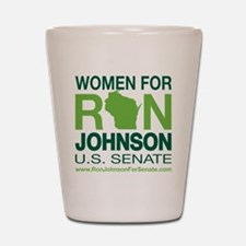 Women For Ron_front2 Shot Glass
