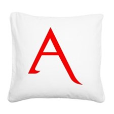 RED A SHIRT Square Canvas Pillow
