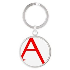 RED A SHIRT Round Keychain