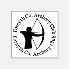 "Archery_Shirt_High_Res_2009 Square Sticker 3"" x 3"""