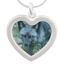 CCFox5.5x4.25 Silver Heart Necklace