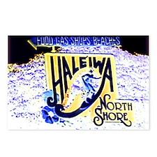 Haleiwa beach hawaii sign Postcards (Package of 8)