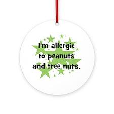allergictopeanutsandtreenuts Round Ornament