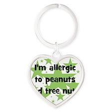 allergictopeanutsandtreenuts Heart Keychain