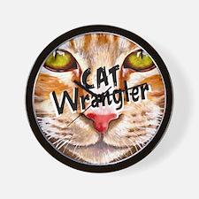 Cat Wrangler 3 Wall Clock
