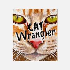 Cat Wrangler 3 Throw Blanket