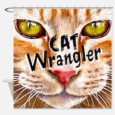 Cat Wrangler 3 Shower Curtain