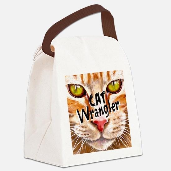 Cat Wrangler 3 Canvas Lunch Bag