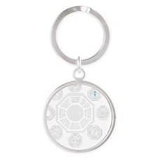 Dharma Stations Trans Round Keychain