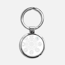 Dharma Stations Trans Round Keychain