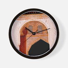 Alhambra in Granada Wall Clock