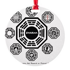 Dharma Stations Round Ornament