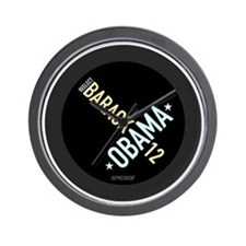 twisted-reelect-obama-btn Wall Clock