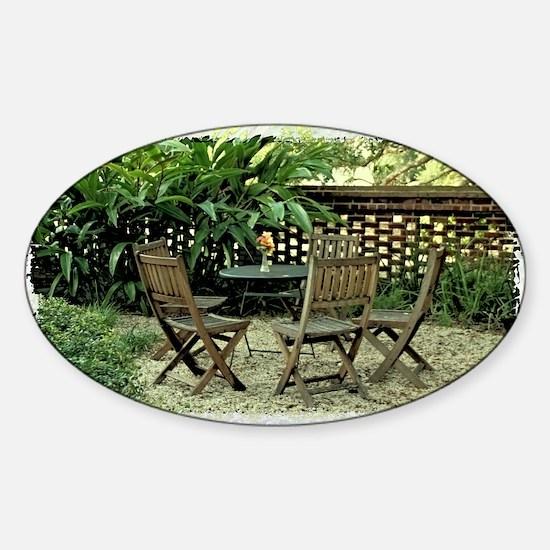In the garden Sticker (Oval)