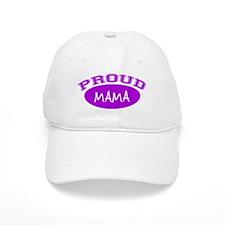 Proud Mama (purple) Baseball Cap