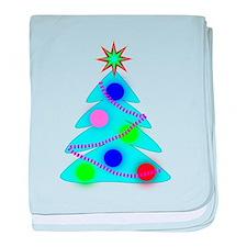 Blue Christmas Tree baby blanket
