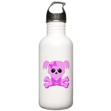 Pink Goth Girl Water Bottle