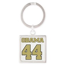 Obama 44 Square Keychain