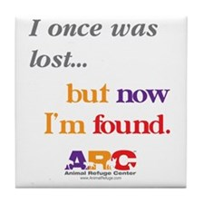 2-I once was lost Tile Coaster