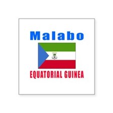 Malabo Equatorial Guinea Designs Square Sticker 3""