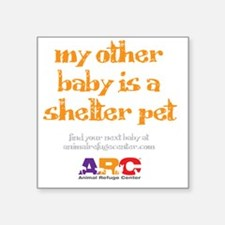 """my_other_baby_is_maternity_ Square Sticker 3"""" x 3"""""""