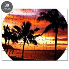 Hawaiian beach sunset Puzzle