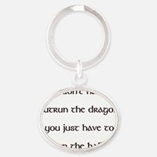 OutrunDragon Oval Keychain