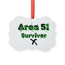 AREA 51 SURVIVOR Picture Ornament