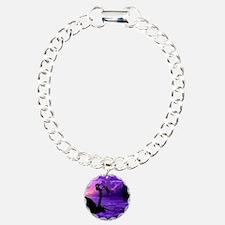 PURPLESAX2 Charm Bracelet, One Charm