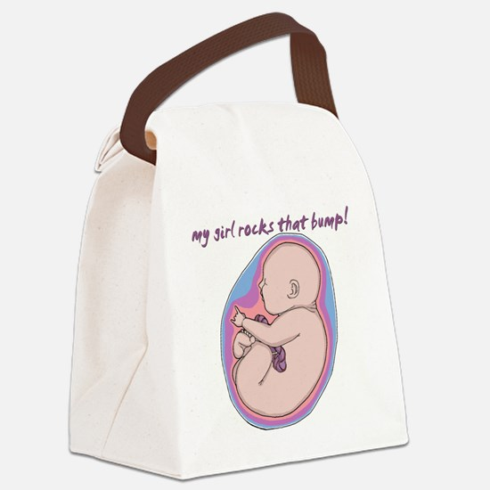 mygirlrocksthebumpt1.gif Canvas Lunch Bag