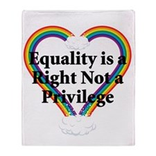 Equality is a Right 3 Throw Blanket
