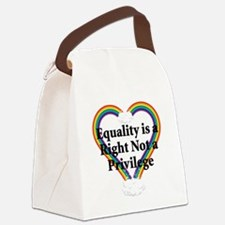 Equality is a Right 3 Canvas Lunch Bag