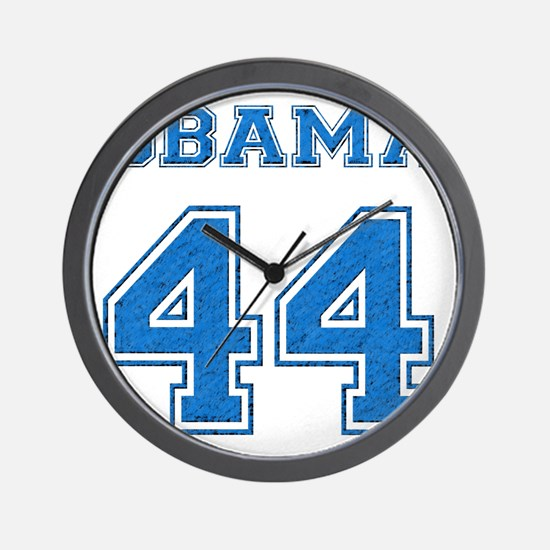 OBAMA 44 blue Wall Clock