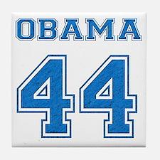 OBAMA 44 blue Tile Coaster