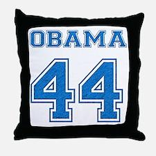 OBAMA 44 blue Throw Pillow
