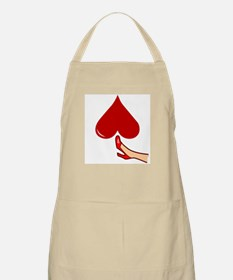 Kicked In The Heart Butt or Balls BBQ Apron