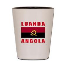 Luanda Angola Designs Shot Glass