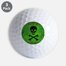 Toxic_card_vertical copy Golf Ball