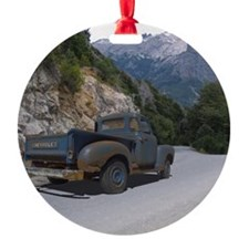 50 Ford Pick up - Mountains - Frame Ornament