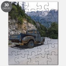 50 Ford Pick up - Mountains - Framed Panel  Puzzle