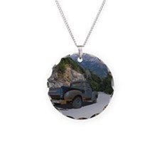 50 Ford Pick up - Mountains  Necklace