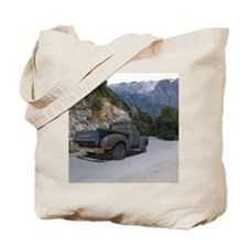 50 Ford Pick up - Mountains - Framed Pane Tote Bag