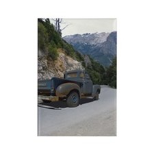 50 Ford Pick up - Mountains - Fra Rectangle Magnet