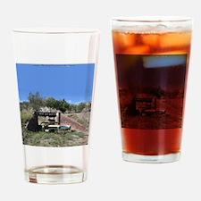 57 Ford fairlane - train bridge - S Drinking Glass