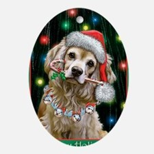 Cocker Spaniel Happy Holidays Oval Ornament