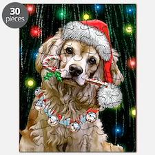 Cocker Spaniel Happy Holidays Puzzle