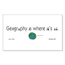 Geography Is Where It's At Rectangle Decal