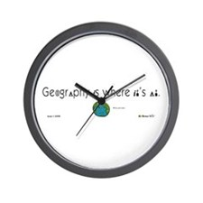 Geography Is Where It's At Wall Clock