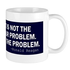 Reagan_govt-not-solution-(blue) Small Mug