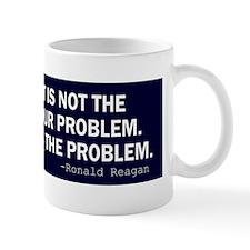 Reagan_govt-not-solution-(blue) Small Small Mug